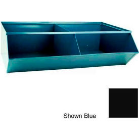 "Stackbin® 3-5SSBK Steel Sectional Hopper Bin Unit, 37""W x 24""D x 11""H, Black, 2 Compartments"