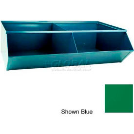 "Stackbin® 3-5SSGN Steel Sectional Hopper Bin Unit, 37""W x 24""D x 11""H, Green, 2 Compartments"