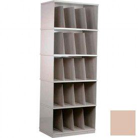 Stackbin® Five-Shelf X-Ray Storage Cabinet, Beige