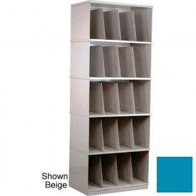 Stackbin® Five-Shelf X-Ray Storage Cabinet, Blue