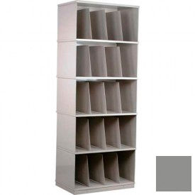 Stackbin® Five-Shelf X-Ray Storage Cabinet, Gray