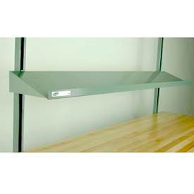 "Stackbin 4-6BAS-16-GY Angled Cantilevered Shelf, 64""W X 16""D, Gray"