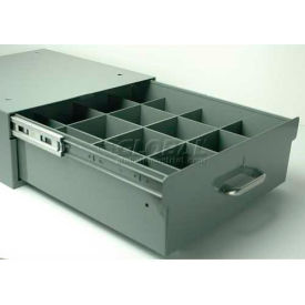 """Stackbin 4-RB16-12-BL 12 Compartment Divider Kit, 14""""W X 16""""D X 2-1/2""""H, Blue"""