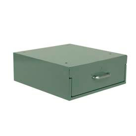 "Stackbin 4-RBC-GY Drawer, 14""W X 16""D X 5""H, Gray"