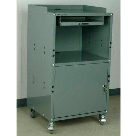 "Stackbin Mobile Computer Cabinet, 27""W x 24""D x 50""H, Black"
