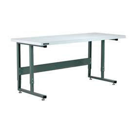 "Stackbin Workbench, 2011 Series, ESD Square Edge, 48""W X 36""D, Gray"