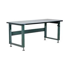 "Stackbin Workbench, 4000 Series, ESD W/T-Molding, 48""W X 36""D, Gray"