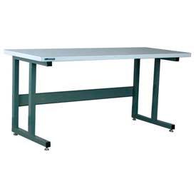 "Stackbin Workbench, 1050 Series, ESD Square Edge, 60""W X 36""D, Blue"