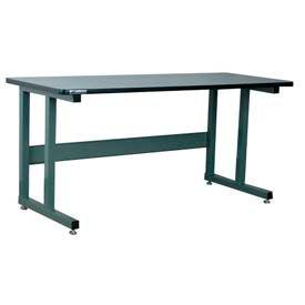 "Stackbin Workbench, 1050 Series, ESD W/T-Molding, 72""W X 36""D, Black"