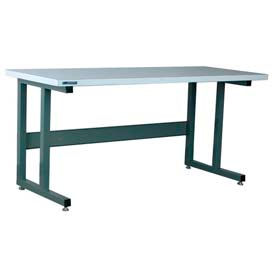"Stackbin Workbench, 1050 Series, ESD Square Edge, 96""W X 30""D, Gray"
