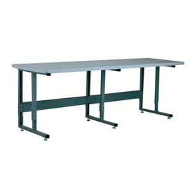 "Stackbin Workbench, 2011 Series, ESD Square Edge, 96""W X 36""D, Blue"