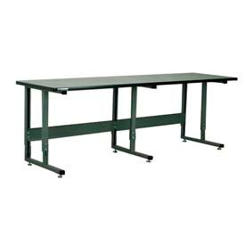"Stackbin Workbench, 2011 Series, ESD W/T-Molding, 96""W X 36""D, Black"