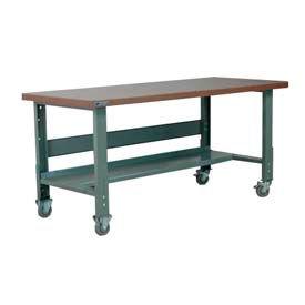 "Stackbin Workbench, 3512 Series, Hardboard, 72""W X 30""D, Gray"