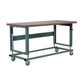 "Stackbin Workbench, 2500 Series, Hardboard, 72""W X 36""D, Gray"
