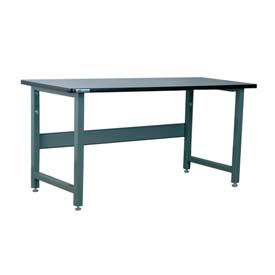 "Stackbin Workbench, 3512 Series, Plastic Laminate W/T-Molding, 48""W X 30""D, Blue"
