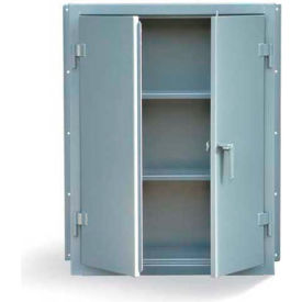 """Strong Hold Heavy Duty Overhead Wall Mounted Two-Shelf Cabinet 34-WM-142 - 36""""W x 14""""D x 48""""H"""