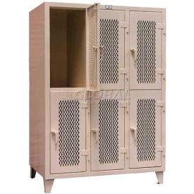 Strong Hold® Heavy Duty Ventilated Personal Locker 36-24V-2TPL - 2-Tier 36 x 24 x 78