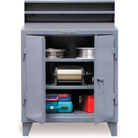 "48""W x 28""D Foreman's Cabinet Desk - Gray"