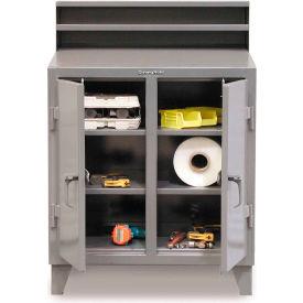 """48""""W x 28""""D 2 Person Locker Desk - Gray"""