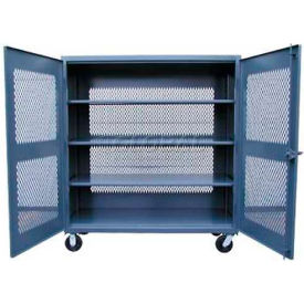 Strong Hold® Heavy Duty Mobile Ventilated Cabinet 45-VB-243-CA - 48 x 24 x 67