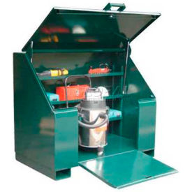 Strong Hold® Heavy Duty Job Site Cabinet 453UJB-RAMP - With Ramp 60 x 36 x 48