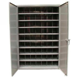 Strong Hold® Heavy Duty Adjustable Metal Bin Compartment Cabinet 46-298PH-54VD-SB- 48 x 29 x 72