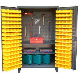 Strong Hold® Pegboard Bin Tool Storage Cabinet 46-BSPB-242 -  With 144 Bins 48 x 24 x 78