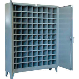 Strong Hold® Heavy Duty Metal Bin Compartment Cabinet 56-1610-99OP - 99 Openings 60 x 16 x 78