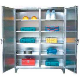 Strong Hold® Independent Locking Cabinet 56-DS-248SS - Stainless Steel Double Door 60 x 24 x 78