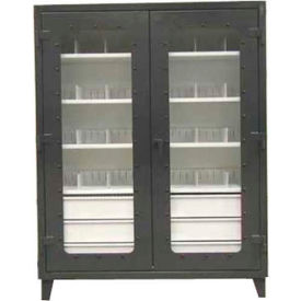 Strong Hold® Heavy Duty On-Site See-Thru Storage Cabinet 56-LD-244-6/5DB-24DIV - 60 x 24 x 78