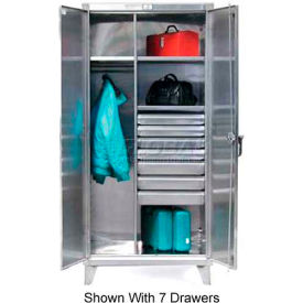 Strong Hold® Combination Cabinet 56-W-244-4DB-SS - With 4 Drawers 66 x 24 x 78