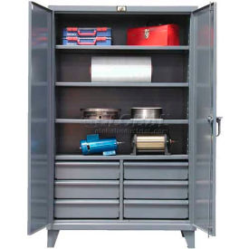 Strong Hold® Heavy Duty Storage Cabinet 66-244-6/5DB - With Drawers 72 x 24 x 78
