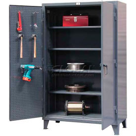 Strong Hold® Heavy Duty Pegboard Cabinet 66-PB-244 - 72 x 24 x 78