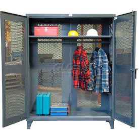 Strong Hold® Heavy Duty All-Vented Wardrobe Cabinet 66-VBS-241WR - With Full Rod 72 x 24 x 78