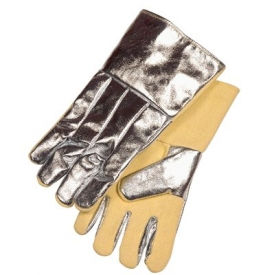 Aluminized Combination Fabric Gloves, Stanco ACKK214WL, 1-Pair