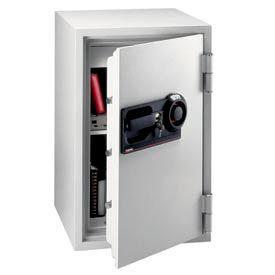 "SentrySafe Commercial Combination Fire Safe® S6370 - 20-1/2"" x 22"" x 34-1/2"" 3 Cu. Ft., Lt Gray"