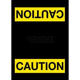 NoTrax® Safety Message Mat 194 Caution 4x6 - Black