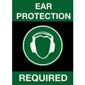 NoTrax Safety Message Mat 194 Ear Protection Required 4x6 Black