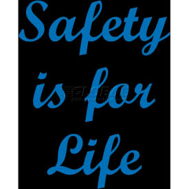 """NoTrax® Safety Message Mat, Safety Is For Life, 3/8"""" Thick, 3'x5', Black"""