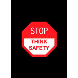 """NoTrax® Safety Message Mat, Stop Think Safety, 3/8"""" Thick, 3'x5', Black"""