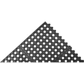 """Akro Cushion-Connect 1/2"""" Thick Anti-Fatigue/Anti-Slip Classic Floor Mat, 3' x 3' Black"""