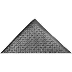 "Akro Diamond-Cushion 1/2"" Thick Anti-Fatigue Classic Floor Mat, 3' x 6' Black"