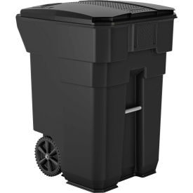 Suncast Commercial Wheeled Trash Can with Lid, 96 Gallon, Gray - BMTCW96