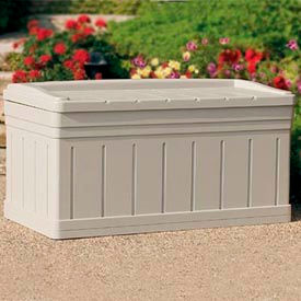 Suncast DB9750 Premium Deck Box with Seat 129 Gallon