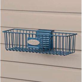 "Suncast® Trends® Garage Storage Wire Basket, 12"" W X 3"" D X 3-3/4"" H, Blue - Pkg Qty 6"