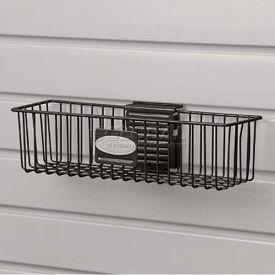 "Suncast® Trends® Garage Storage Wire Basket, 12"" W X 3"" D X 3-3/4"" H, Black - Pkg Qty 6"