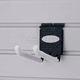 """Suncast® Trends® Garage Storage 4"""" Metal Double Hook, Black - Pkg Qty 6"""