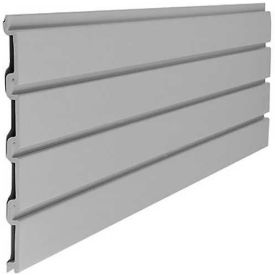 "Suncast® Trends® Garage Storage Slat Wall 48"" W X 3/4"" D X 12"" H Section, Gray - Pkg Qty 6"