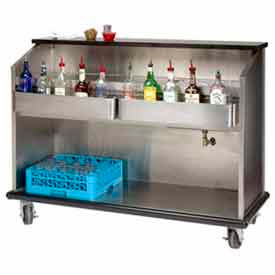 """Portable Bar 60"""" Enclosed Storage w/ S/S Doors by"""