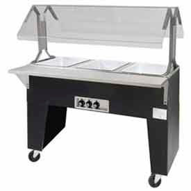 Portable Solid Top Buffet Table, (4) Pan Size, Black